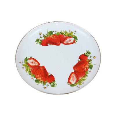 Runde Platte - Erdbeere - 2,5 L, emailliert, Geschirr
