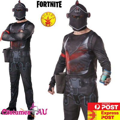 Licensed Mens Fortnite Black Knight Costume Epic Game Adults Halloween