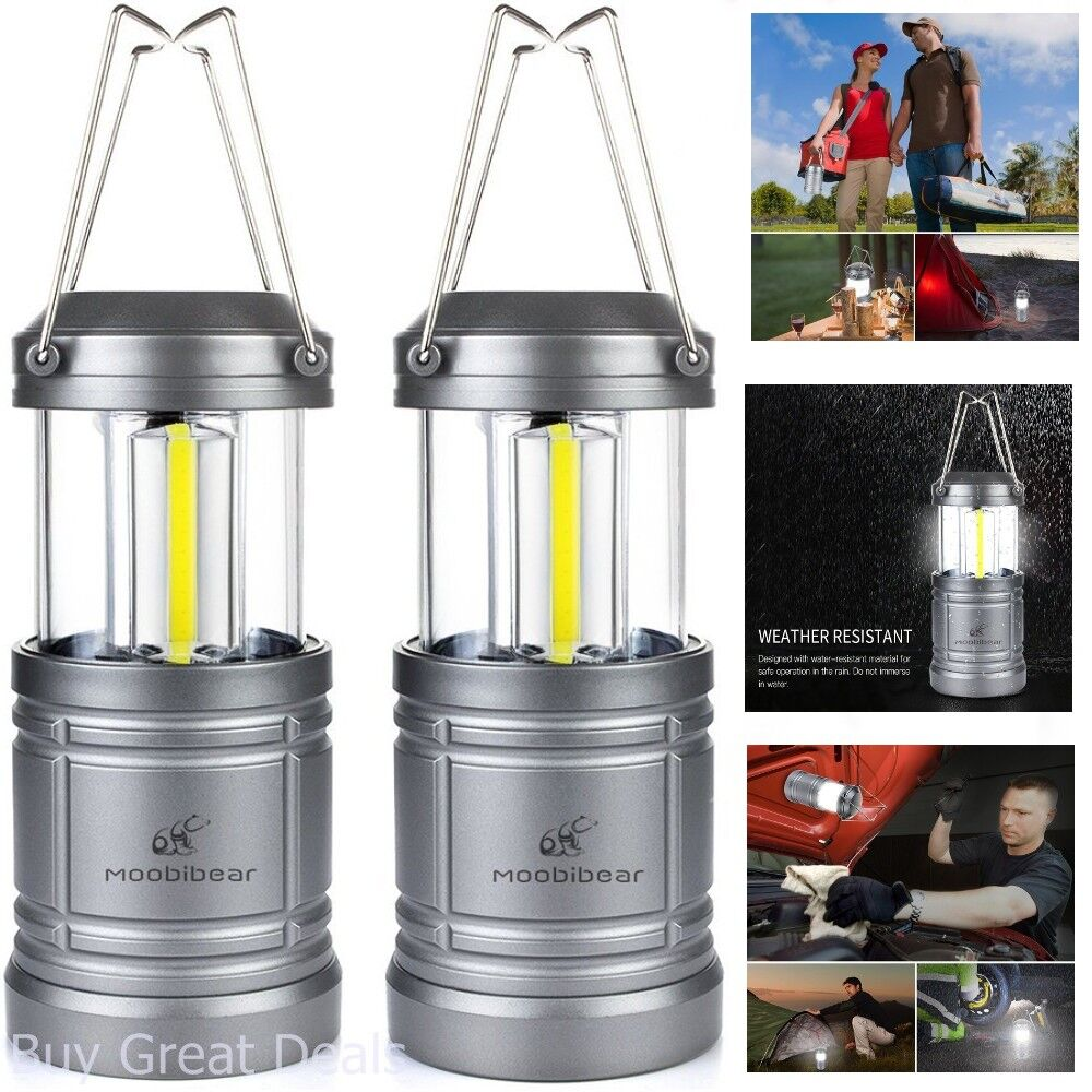 Set of 2 Lightweight Portable LED Camping Lantern 30 LED Batteries Not Included