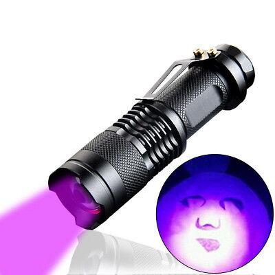 High Powered UV Lamp Black Light Ultra Violet Flashlight 395nm W/ 5Watt LED (Black High Powered Led)