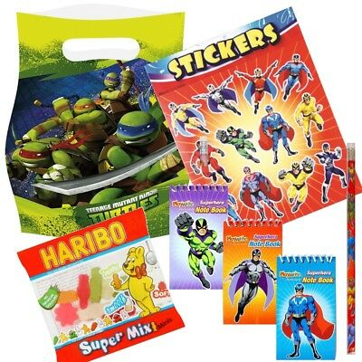 Teenage Ninja Turtles Themed Pre-Filled Party Bag - Sweets | Stickers | Favours - Ninja Turtle Themed Party