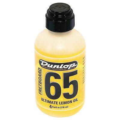 Dunlop Fretboard 65 Ultimate Lemon Oil Guitar Bass Fretboard Conditioner 4 Oz