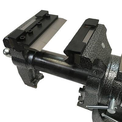"""Vise Mount 4"""" Press Brake Bender Attachment Bending 14 Gauge Mild Steel 1/8"""" Alu"""