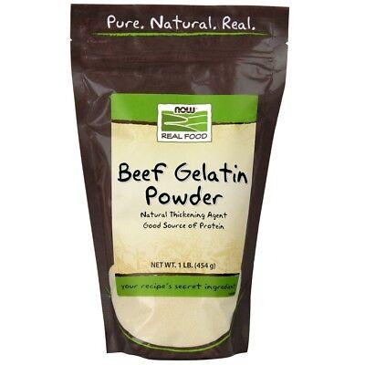 Now Foods Beef Gelatin Powder Unflavored - 1 lb