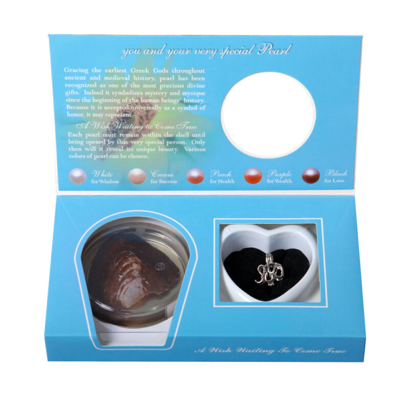 Wholesale Lot Wish Pearl Pendant with Oyster Gift Sets