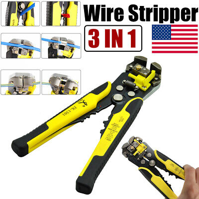 Automatic Self-adjusting Cable Wire Stripper Cutter Crimper Plier Terminal Tool