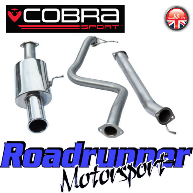 "FD52 Cobra Sport Fiesta ST180 MK7 Exhaust System Cat Back 2.5"" Non Res Single 4"""