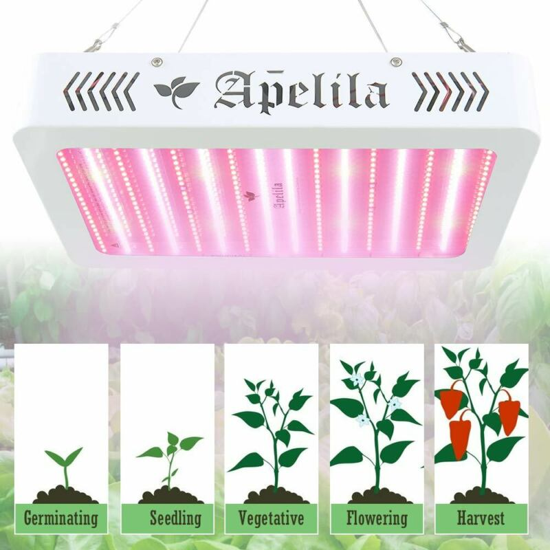 Apelila 6000W LED Grow Light Dual Full Spectrum Bloom Enhance Hydro Plant UVLamp