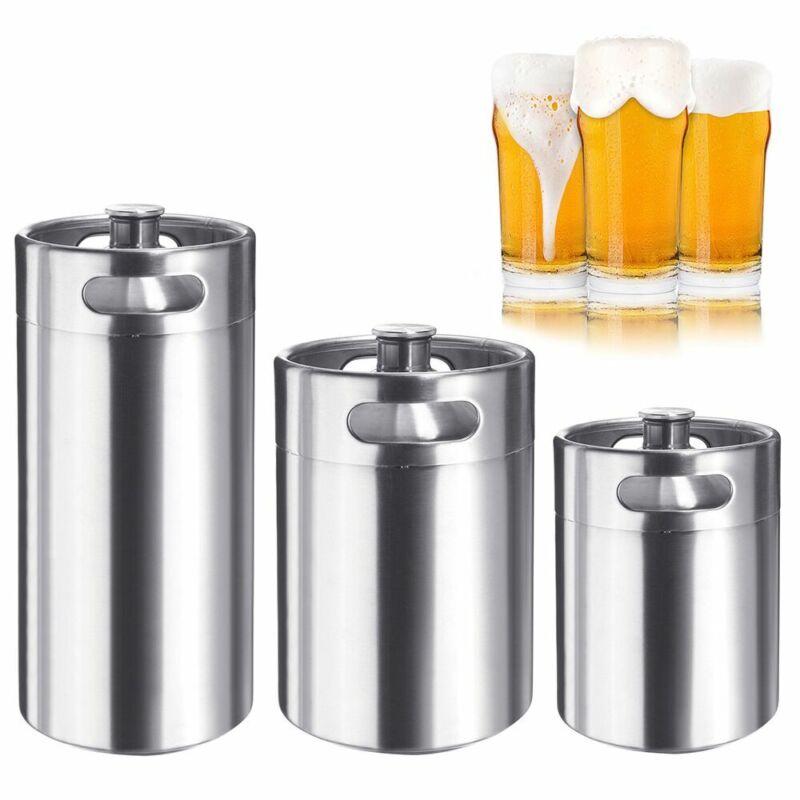 64/128/170OZ Homebrew Growler Mini Keg Stainless Steel Beer Brewing Making 2-5L
