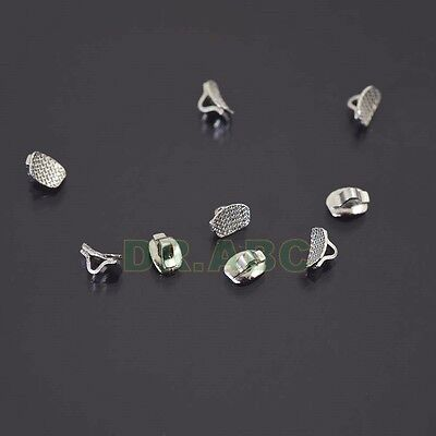 10 Pcs Orthodontic Direct Bonding Eyelets Rectangle Base Crimpable Hook Buttons
