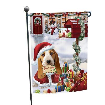 Basset Hound Dog Santa Letter Christmas Holiday Mailbox Garden Flag GFLG53933