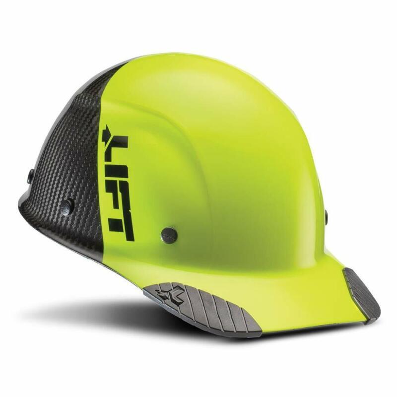 Lift Safety DAX Carbon Fiber Cap Brim 50-50 (Yellow/Black)
