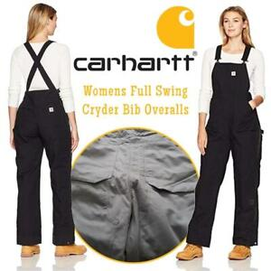 NEW Carhartt Womens Full Swing Cryder Bib Overalls Condtion: New, X-Large, Black