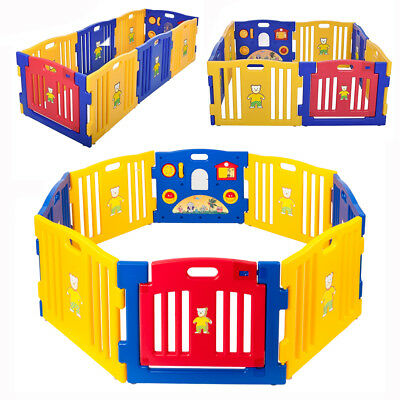 New Baby Playpen Kids Panel Safety Play Center Yard Home Indoor Outdoor Pen Ball