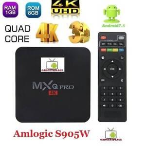 4K 1G 8G MXQ PRO Android 7.1 17.3 Amlogic S905W Quad Core Wifi Doveton Casey Area Preview