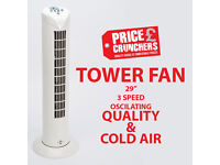 """29"""" Tower Oscillating Fan Cooling Room Bedroom House Pedestal with Timer Quiet"""