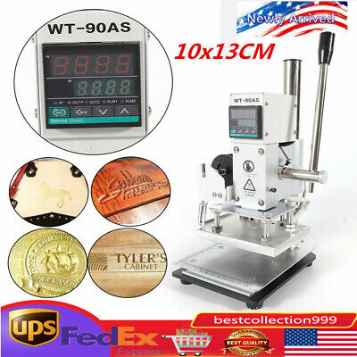 1013cm Manual Digital Hot Foil Stamping Machine Leather Logo Stamp Bronzing Top