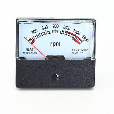 Dc 0-1800 Rpm  Analog Panel Meter Rpn Meter Gauge Dh-670