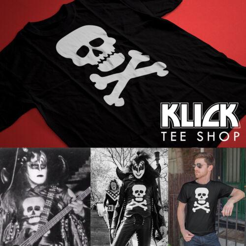 KISS band T-shirt Gene Simmons 1973 Skull S—5XL