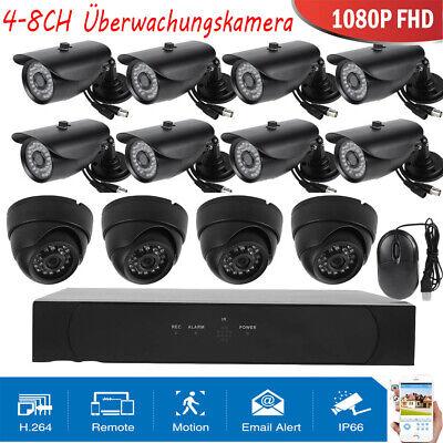 4/8CH 1080P DVR AHD Video Überwachungskamera 4TB 8 Wifi Außen IP 4-Kanal Kamera (Wifi Video überwachungskamera)