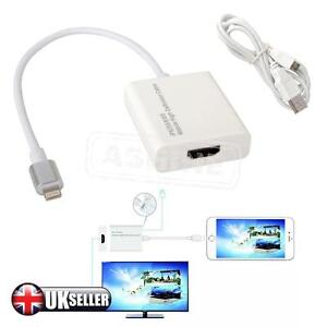 8 Pin Lightning To HDMI Cable HDTV AV Adapter For Apple iPad Mini iPhone 6 6s 5s