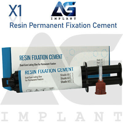 Resin Permanent Fixation Cement Dental Luting Glue Dual Cure Crown Bridge 12g