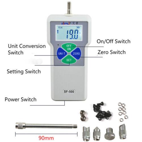 500N / 50Kg /110Lb SF-500 Digital Dynamometer Push Pull Force Gauge Tester Meter