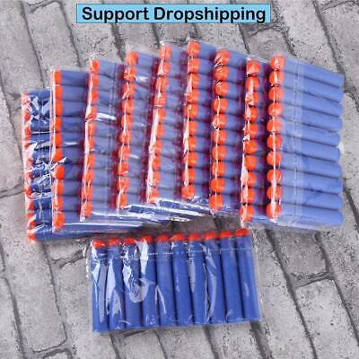 100pcs For Nerf Bullets EVA Soft Hollow Hole Head 7.2cm Refill Bullet Darts