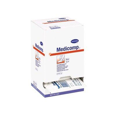 Medicomp Vliesstoff-Kompressen Wundabdeckung, steril, 10cm x 10cm, 25x 2 Stück
