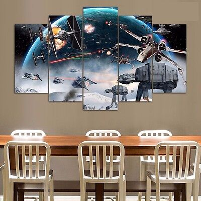 printed Painting Star Wars Battle - 5 Piece Canvas Painting (Star Wars Battle 5 Piece Canvas Painting)