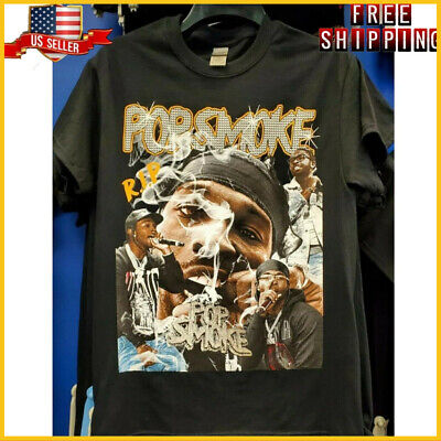 FREESHIP Rare Vintage 90s Style RIP Pop Smoke Hip Hop Rap T-Shirt Unisex S-6XL