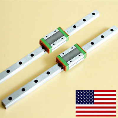 2 Set Mgn12 Linear Slide Rail Guidemgn12h Block For 3d Cnc Machine L250-550mm