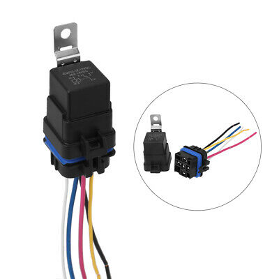 14cm Automotive Car Auto 12v 5 Pin Relay Socket Harness Plug Holder Waterproof