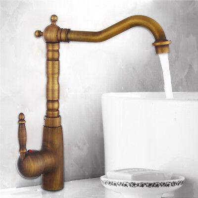 Retro Bronze Einhebel Küche Bad Armatur Mischbatterie Wasserhahn Waschbecken DE Bronze Wasserhahn