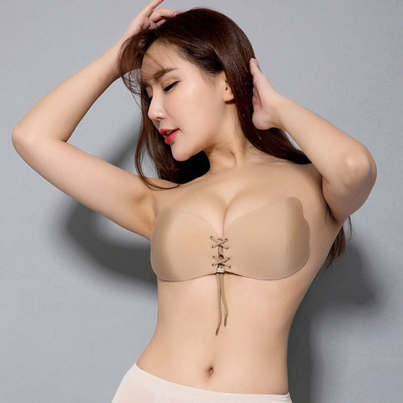 Silicone Push-Up Backless Strapless Self-Adhesive Gel Magic Stick Invisible Bra