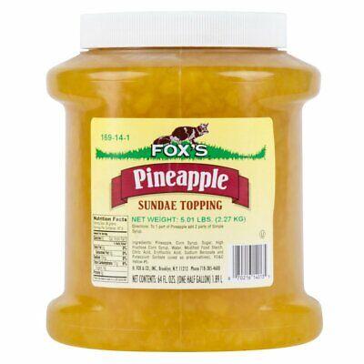 Foxs Pineapple Ice Cream Topping - 12 Gallon Jar
