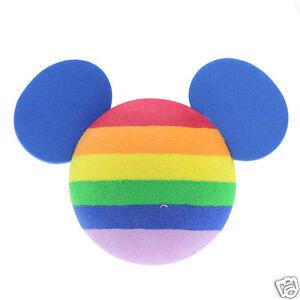 Cute Rainbow Disney Mickey Mouse Car Aerial Ball Antenna Topper Decor Ball New