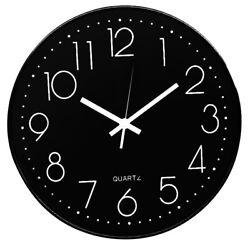 12 Indoor Wall Clock Silent Non-ticking Digital Battery Quartz Living Room Deco