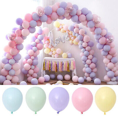 Lot Of 100 Macaron Candy Colored Latex Balloons For Wedding Party Birthday - Mint Colored Balloons