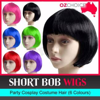 New Short BOB Wig Cosplay Ladies Party Straight Wigs Costume Fanc Knoxfield Knox Area Preview