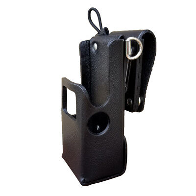 Case Guys Mr8607-3awd Hard Leather Holster For Motorola Apx 6000 8000 Radios