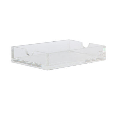 Memo Pad Note Holder Clear Acrylic Desk Tray Fits 4 X 6 Inches Index Cards
