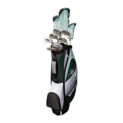 Wilson Profile XLS Women's RH Flex Graphite Golf Club Package Set with Bag, Teal - Graphite Golf Bag
