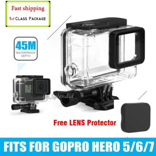 For GoPro Hero 7 6 5 Waterproof Diving Black Camera Accessories 45m Housing Case