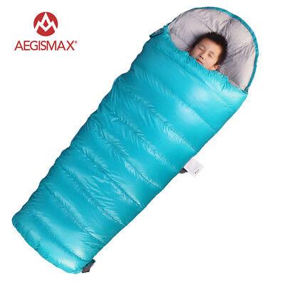 AEGISMAX Children Kid Envelope 95% Goose Down Sleeping Bag 3 Season Camping Hike