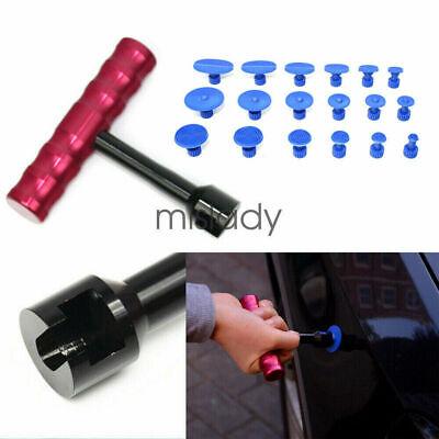 Car Body Paintless Dent Repair T Handle Bar Slide Hammer +18 Tools Puller Tabs