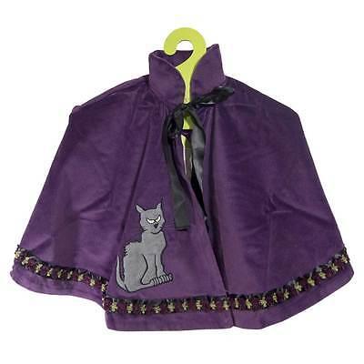 Lovely Lea Halloween Umhang LILA HEXE Katze violett Cape Kinderkostüm Gr. 98-140 (Kinder Halloween Katze Kostüme)