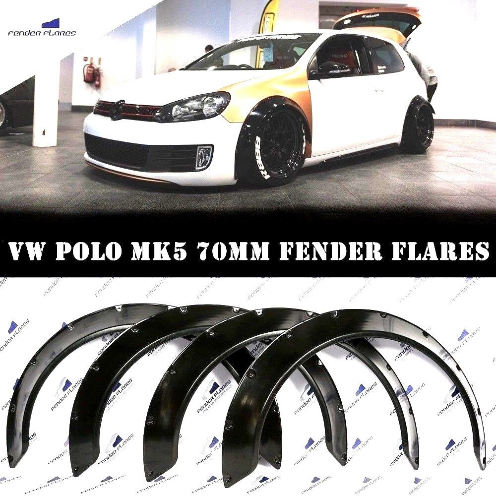 Universal JDM Fender Flares over wide body wheel arches ABS 60mm 2Pcs