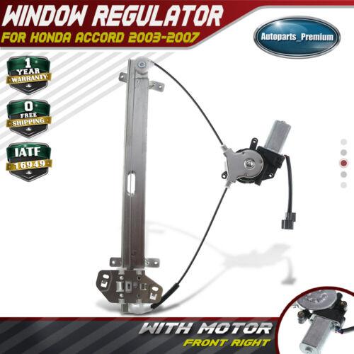Power Window Motor Regulator Assembly Front Left For 03-07 Honda Accord 741-306