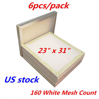 6 Pack 23 X 31 Aluminum Silk Screen Printing Frame -160 Mesh Count-us Stock